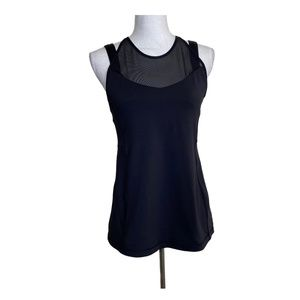 Lululemon Running In The City Tank Top Black Mesh